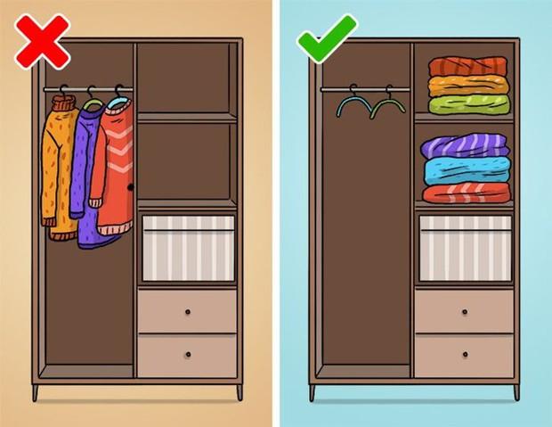 Mắc phải 9 sai lầm khi sắp xếp tủ đồ này, quần áo dù yêu thích đến mấy cũng sẽ sớm bị hỏng - Ảnh 4.