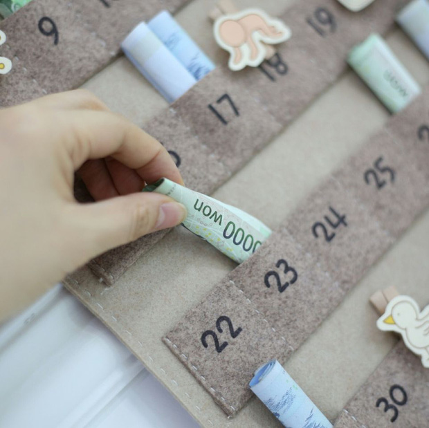 Phụ nữ Hàn Quốc thích dùng lịch tiết kiệm, vừa xinh xắn lại còn dành dụm được số tiền đáng kể - Ảnh 4.