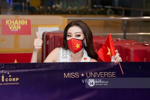 Mâu Thủy - Hương Ly tiễn Khánh Vân đi thi Miss Universe cũng không quên dìm hàng nhau - Ảnh 1.