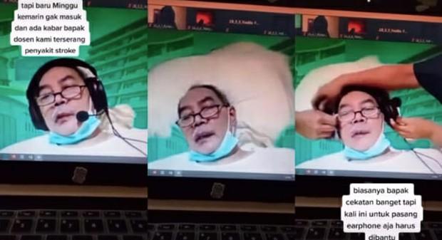 Đột quỵ tới mức liệt giường, thầy giáo già vẫn tiếp tục giảng bài trên Zoom bất chấp bệnh tật khiến ai cũng ngưỡng mộ - Ảnh 1.