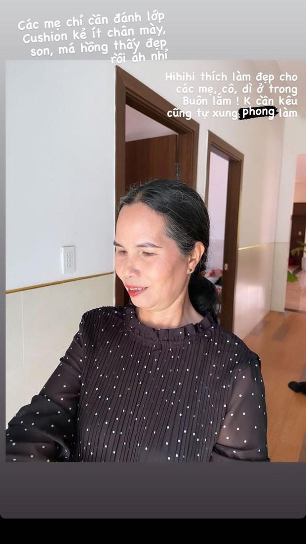 HHen Niê trổ tài trang điểm cho mẹ và người thân trong buôn làng, nàng hậu tầm quốc tế về nhà giản dị thấy mà cưng xỉu - Ảnh 3.