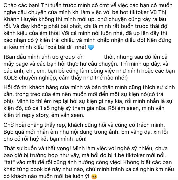 Hot TikToker Khánh Huyền 2k4 nói gì khi sau nửa năm bất ngờ bị tố kênh kiệu, thiếu chuyên nghiệp? - Ảnh 3.
