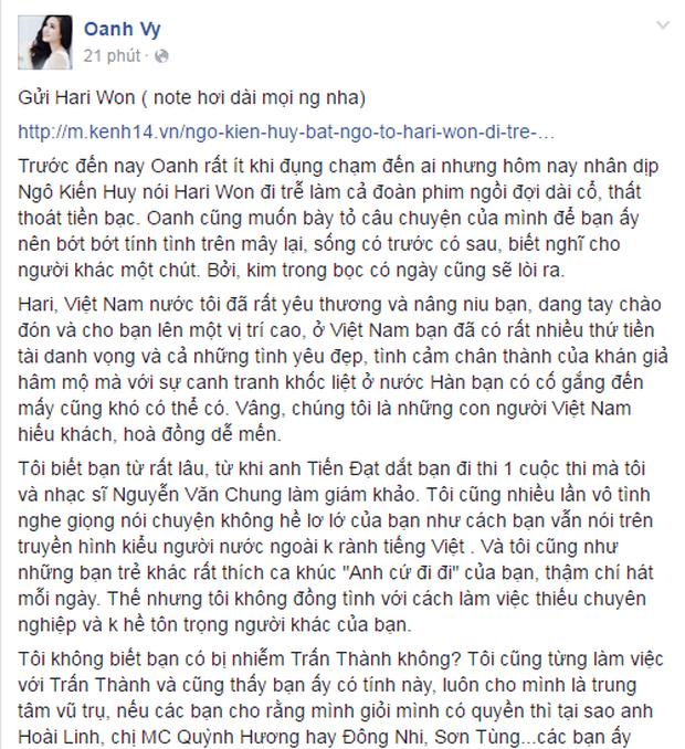 Trước bà Phương Hằng, Vy Oanh từng đấu tố cả dàn sao: Từ Hari Won đến đàn chị Minh Tuyết đều bị réo, gọi Trấn Thành là thằng - Ảnh 2.