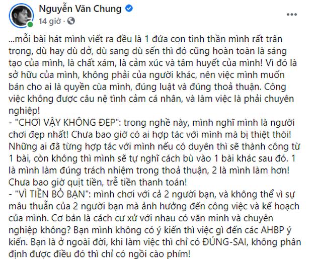 NS Nguyễn Văn Chung đăng tâm thư giữa bão Nathan Lee - Cao Thái Sơn, đáp trả thế nào khi bị nói vì tiền bỏ bạn, toàn bài cũ rích? - Ảnh 2.