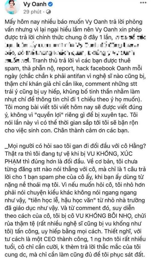 """Vy Oanh lên tiếng kể rõ nguyên nhân """"khẩu chiến"""" với đại gia Phương Hằng, cả thông tin làm vợ bé và """"đẻ thuê"""" cho đại gia 70 tuổi! - Ảnh 2."""