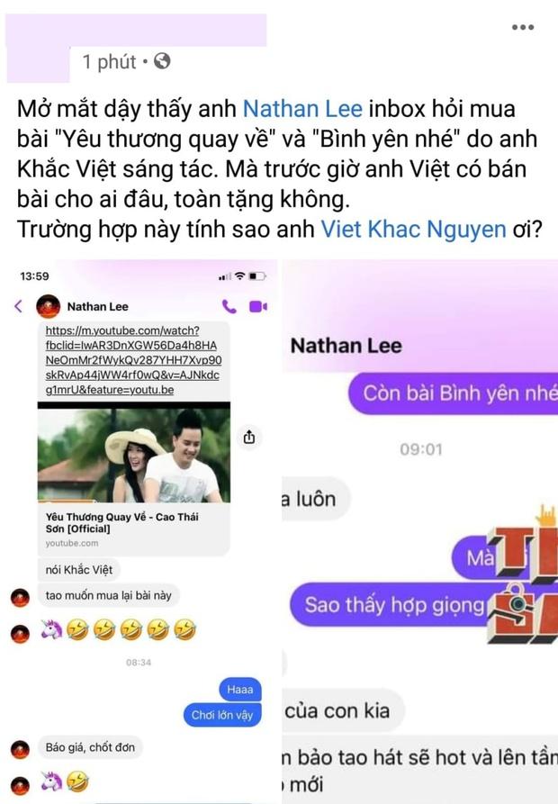 Nathan Lee lại chốt đơn mua độc quyền 2 bản hit của Cao Thái Sơn do nhạc sĩ Khắc Việt sáng tác! - Ảnh 1.