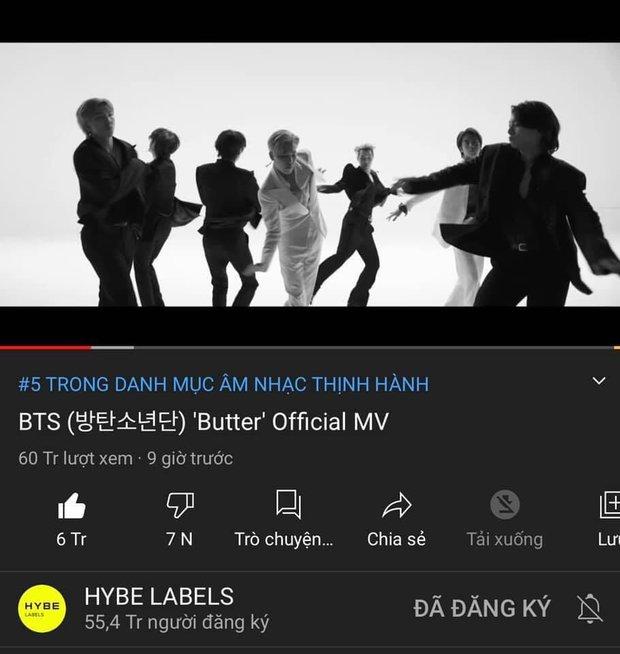 BTS lại bị YouTube thẳng tay trừ gần chục triệu views, ARMY động viên nhau quyết chơi khô máu - Ảnh 2.