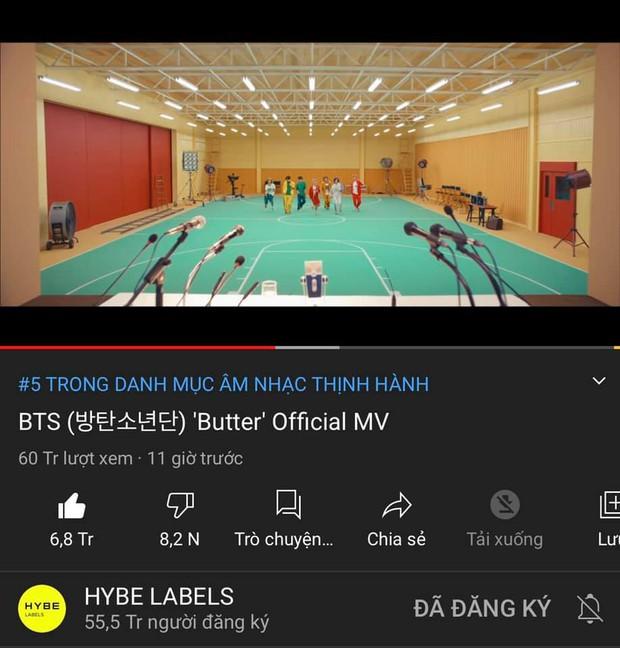 BTS lại bị YouTube thẳng tay trừ gần chục triệu views, ARMY động viên nhau quyết chơi khô máu - Ảnh 5.