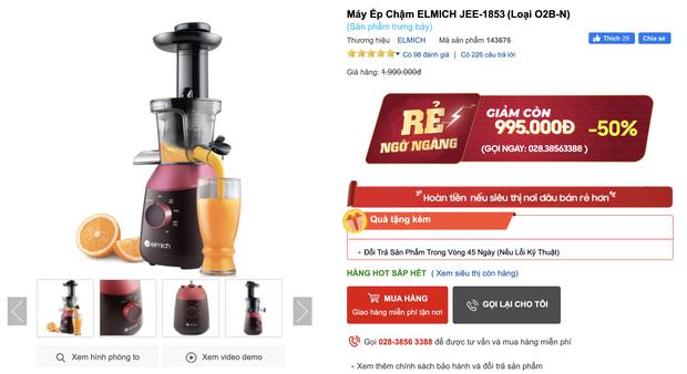 Thứ 6 sale sốc: Máy ép chậm chưa bao giờ rẻ đến thế: Sale đến 60%, từ 500k rinh được một chiếc ok lah - Ảnh 6.