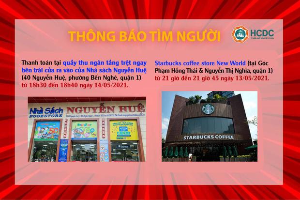 KHẨN: TP.HCM tìm người đến Nhà sách Nguyễn Huệ và Starbucks quận 1 vì liên quan đến 2 ca nhiễm Covid-19 - Ảnh 1.