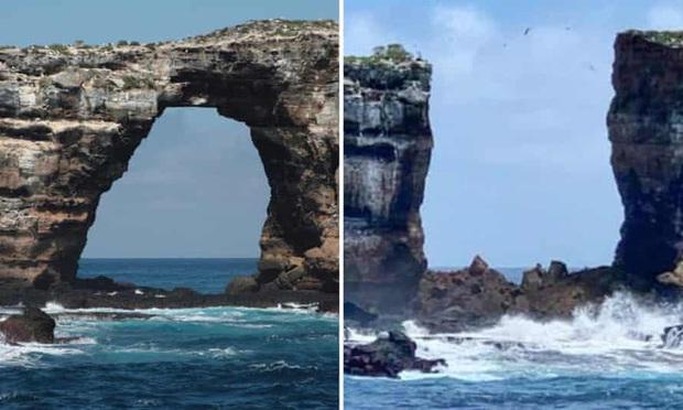 Vòm đá nổi tiếng Darwins Arch bất ngờ sụp đổ xuống biển, nguyên nhân không phải do con người - Ảnh 1.