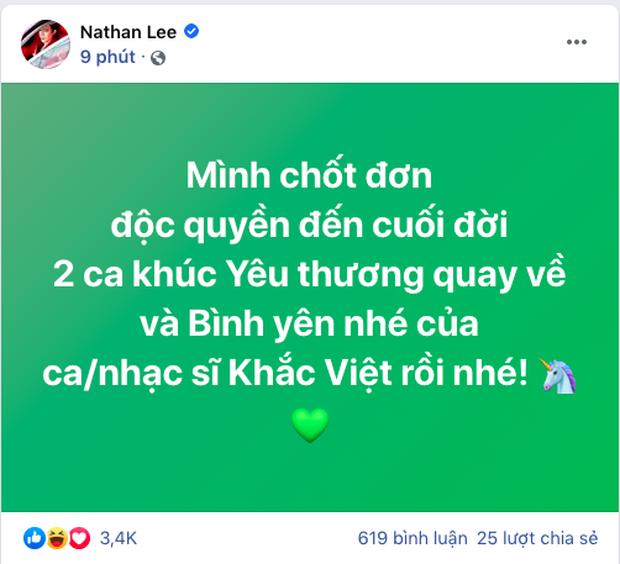 Nathan Lee lại chốt đơn mua độc quyền 2 bản hit của Cao Thái Sơn do nhạc sĩ Khắc Việt sáng tác! - Ảnh 4.