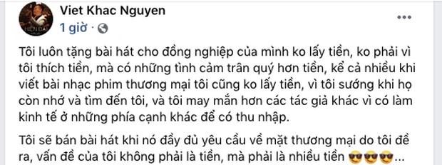 Nhạc sĩ Khắc Việt lên tiếng ồn ào bán hit Cao Thái Sơn cho Nathan Lee: Vấn đề của tôi phải là nhiều tiền - Ảnh 3.