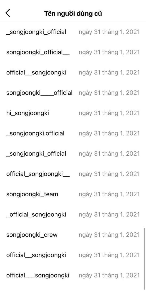Nam thần Song Joong Ki và màn sống ảo như bao người: Đổi tên Instagram có... 50 lần thôi, có gì mà sửa lắm thế? - Ảnh 3.