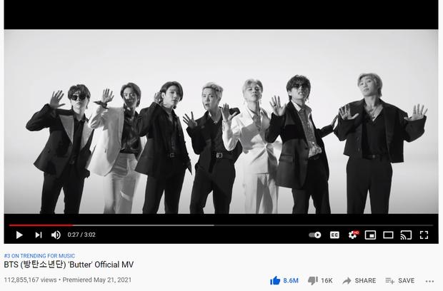 BTS chưa cần tới 24 giờ đã phá kỷ lục trăm triệu view trên YouTube, diệt sạch BXH Hàn trong nháy mắt - Ảnh 2.