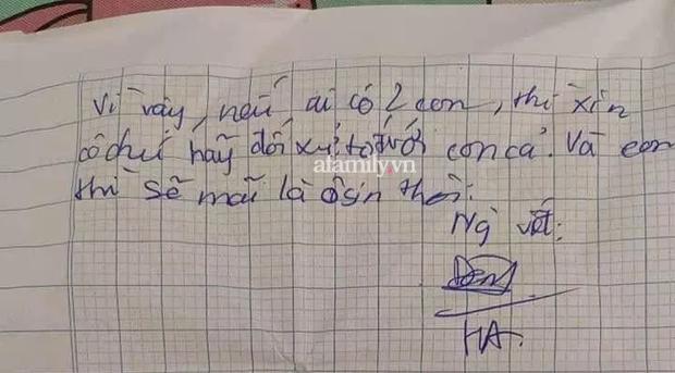 Bức thư nhức nhối rơi trong chung cư ở Hà Nội khiến nhiều bố mẹ có hai con thức tỉnh: Con ghét nó. Nó không nên có mặt trong gia đình - Ảnh 2.
