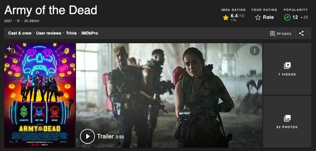Bom tấn kinh dị 18+ Army of the Dead làm netizen náo loạn ngay khi chiếu: Phim zombie sáng tạo nhất 10 năm trở lại đây rồi! - Ảnh 11.