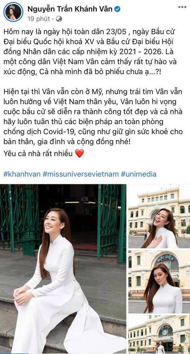 Sao Việt nô nức đi bầu cử: Tiểu Vy, Huyền My dậy sớm cùng dàn hậu bỏ phiếu, Khánh Vân từ Mỹ cũng hào hứng hưởng ứng - Ảnh 6.