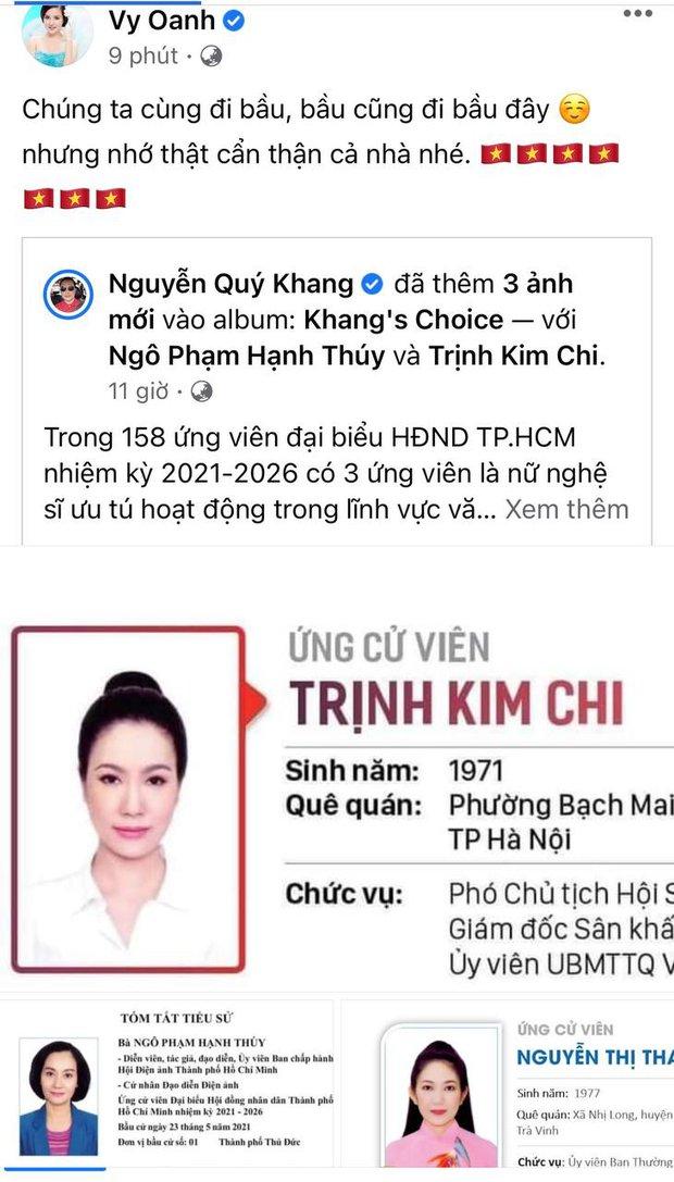 Sao Việt nô nức đi bầu cử: Tiểu Vy, Huyền My dậy sớm cùng dàn hậu bỏ phiếu, Khánh Vân từ Mỹ cũng hào hứng hưởng ứng - Ảnh 12.