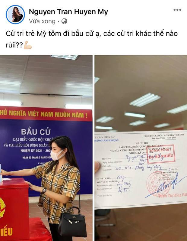 Sao Việt nô nức đi bầu cử: Tiểu Vy, Huyền My dậy sớm cùng dàn hậu bỏ phiếu, Khánh Vân từ Mỹ cũng hào hứng hưởng ứng - Ảnh 7.
