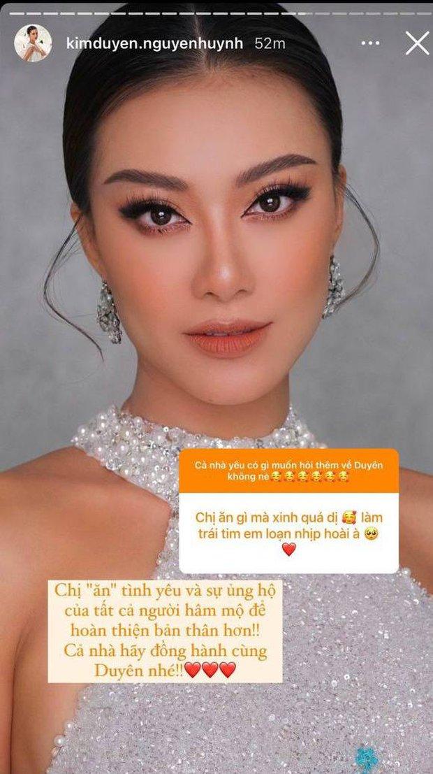 Á hậu Kim Duyên mở hẳn Q&A về Miss Universe 2021: Hé lộ bất ngờ về tranh cãi trình độ tiếng Anh và chuyện học catwalk từ HHen Niê - Ảnh 6.