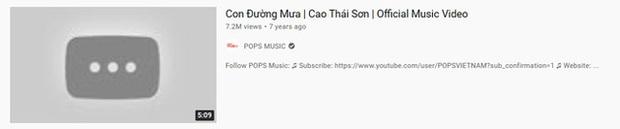 Bản MV Con Đường Mưa hơn 7 triệu views của Cao Thái Sơn đã bay màu sau khi Nathan Lee mua độc quyền? - Ảnh 2.