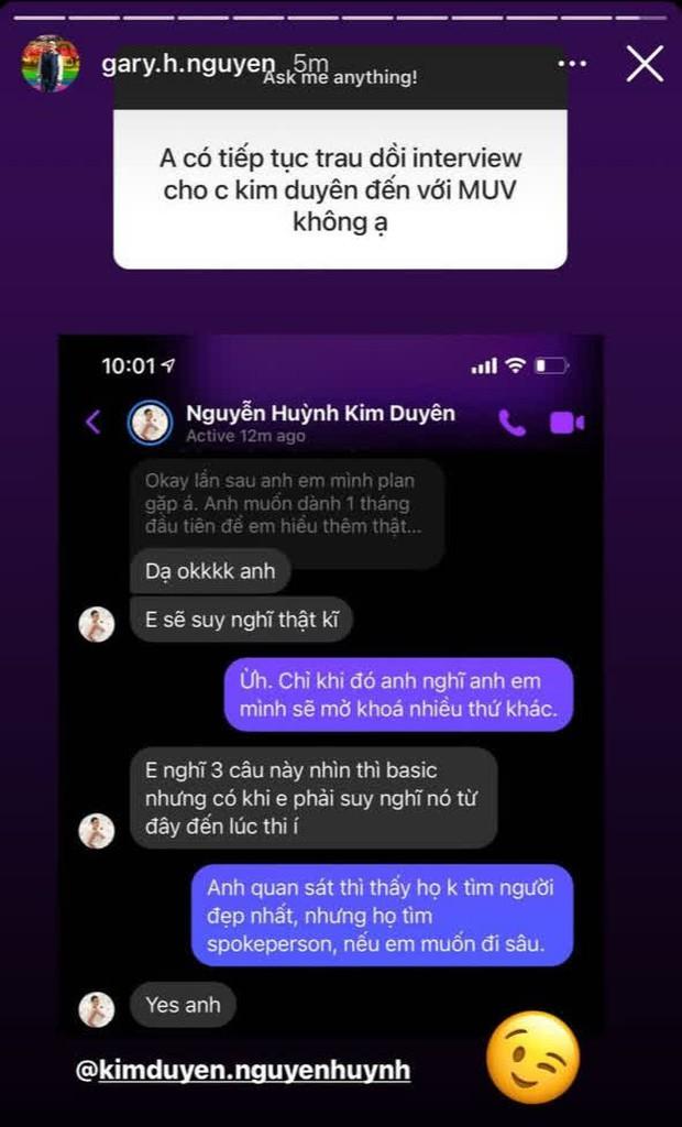 Mentor hướng dẫn tại Mỹ đánh giá về Khánh Vân, hé lộ đoạn chat về việc sẽ trau dồi cho Kim Duyên tại Miss Universe 2021? - Ảnh 3.