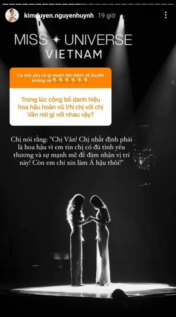 Hé lộ câu nói ngỡ ngàng Kim Duyên nói với Khánh Vân trong giây phút hồi hộp nghe kết quả ngôi vị Hoa hậu Hoàn vũ Việt Nam - Ảnh 2.