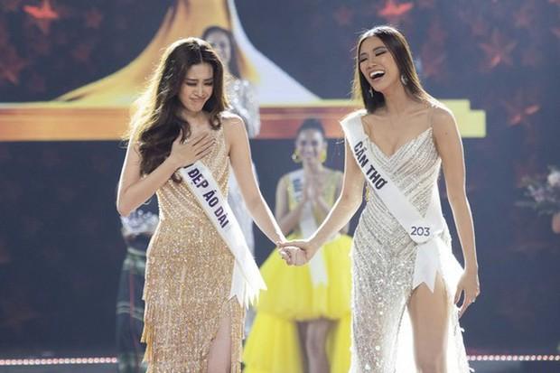 Hé lộ câu nói ngỡ ngàng Kim Duyên nói với Khánh Vân trong giây phút hồi hộp nghe kết quả ngôi vị Hoa hậu Hoàn vũ Việt Nam - Ảnh 5.
