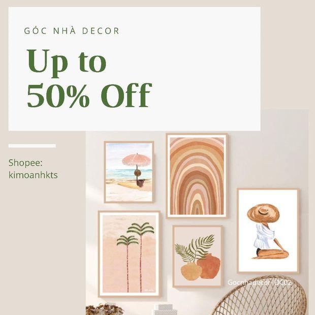 """Các shop decor đang sale đến 50%, giờ sắm thì tiết kiệm khối tiền mà nhà cửa """"sang trang"""" - Ảnh 1."""