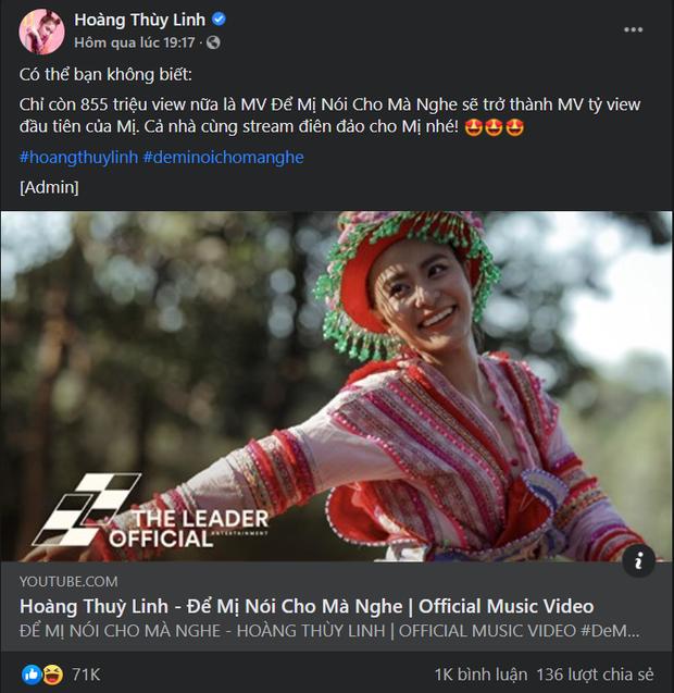 Hoàng Thuỳ Linh mới tuyển admin Gen Z đấy à, tạo nét duyên dáng khiến netizen tự cày chả mấy mà có MV tỷ view đầu tiên của Việt Nam - Ảnh 1.