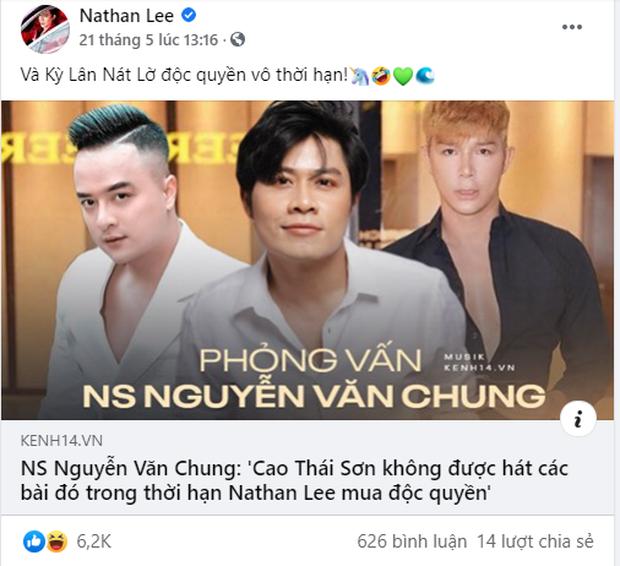 Nguyễn Văn Chung: Nathan Lee không mua độc quyền vĩnh viễn, Cao Thái Sơn đã liên lạc để biểu diễn các ca khúc ở Mỹ và Châu Âu - Ảnh 3.