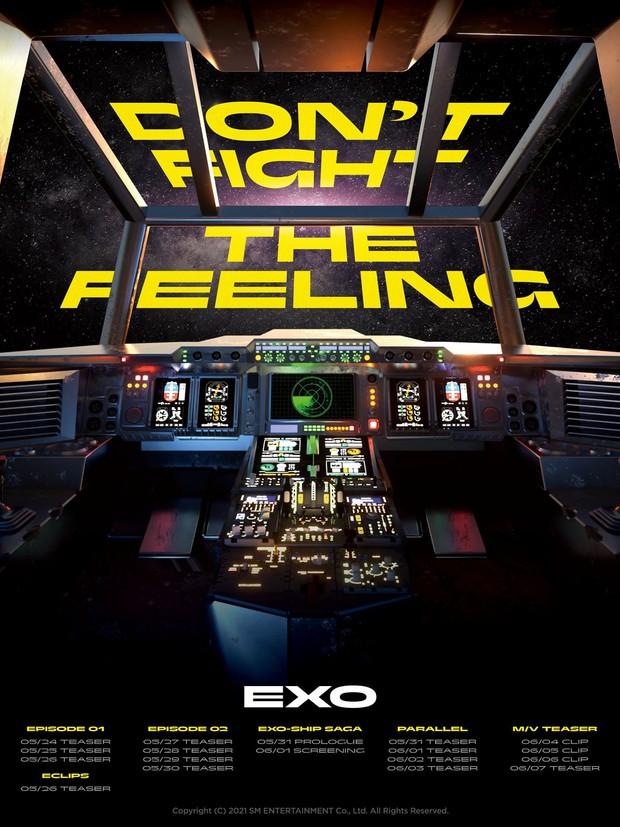 Bộ ảnh teaser comeback của EXO: Nhan sắc trẻ trung dù bị dìm, vốn được cài cắm hint từ MV của tình cũ Jennie? - Ảnh 2.