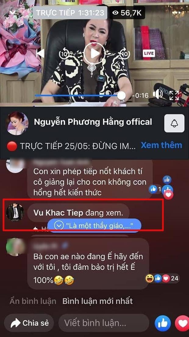 Vũ Khắc Tiệp, Quốc Trường lẫn dàn sao đổ xô cùng hóng xem livestream bà Phương Hằng đại náo showbiz - Ảnh 3.