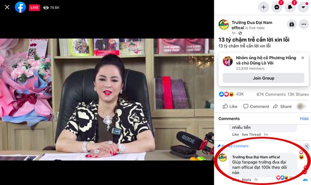 Trường đua Đại Nam của bà Phương Hằng đạt con số theo dõi cực khủng sau livestream, tất cả là nhờ hành động kịp thời của admin - Ảnh 4.
