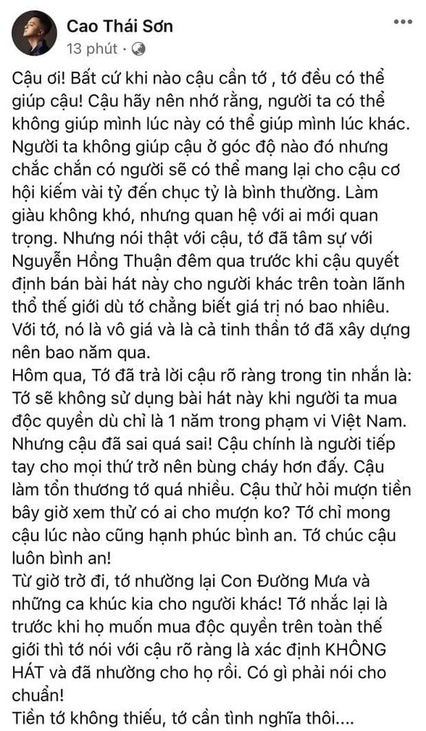 Cao Thái Sơn gửi tâm thư đến Nguyễn Văn Chung: Cậu đã sai quá sai! Cậu chính là người tiếp tay cho mọi thứ bùng cháy hơn - Ảnh 2.