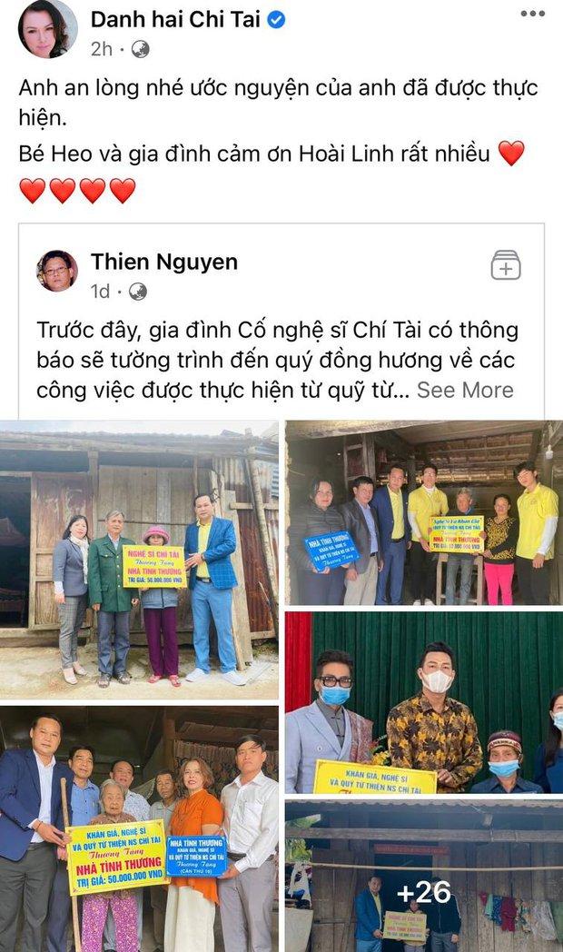 Vợ cố NS Chí Tài bất ngờ gọi tên NS Hoài Linh trước lùm xùm từ thiện kèm theo lời nhắn gửi xúc động tới người chồng quá cố - Ảnh 2.