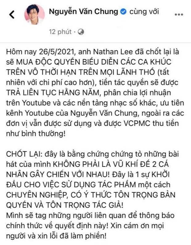 Biến mới: Nathan Lee đã mua độc quyền vô thời hạn nhạc Nguyễn Văn Chung trên mọi lãnh thổ, Cao Thái Sơn chính thức mất trắng loạt hit - Ảnh 4.