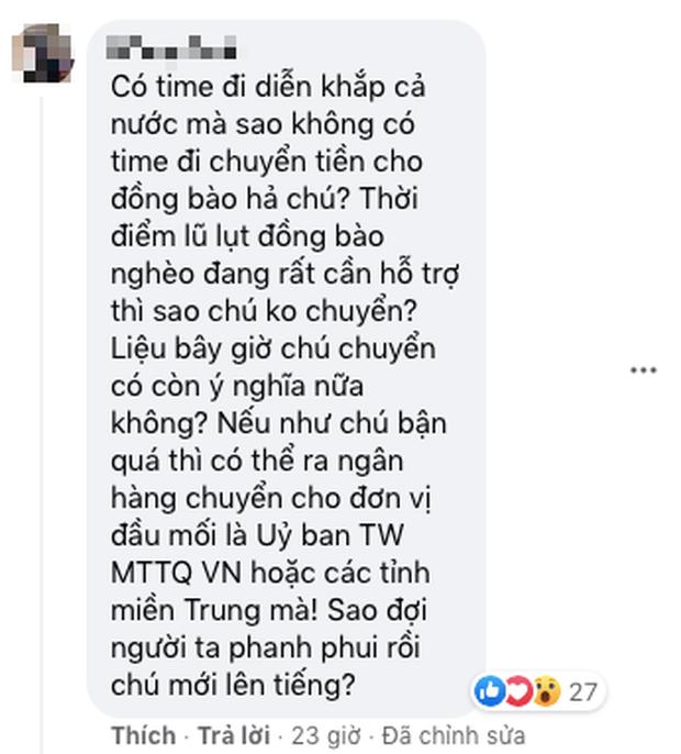 Netizen tràn vào ảnh đại diện của NS Hoài Linh giữa lùm xùm từ thiện, ca sĩ Quang Hà nhắn nhủ đến đàn anh một điều - Ảnh 9.