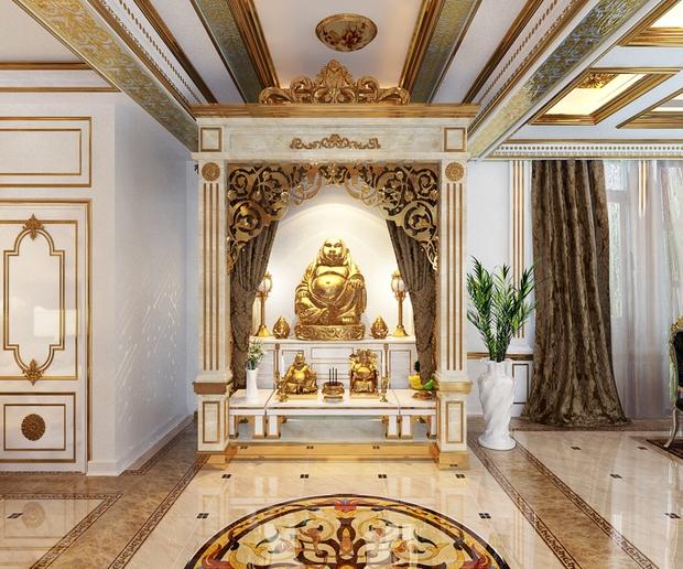 Bên trong biệt thự dát vàng của đại gia Phương Hằng: Ảnh thật không đẹp như thiết kế, nhìn u tối và kém sang vài phần - Ảnh 9.