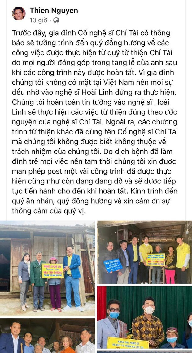 Vợ cố NS Chí Tài bất ngờ gọi tên NS Hoài Linh trước lùm xùm từ thiện kèm theo lời nhắn gửi xúc động tới người chồng quá cố - Ảnh 3.