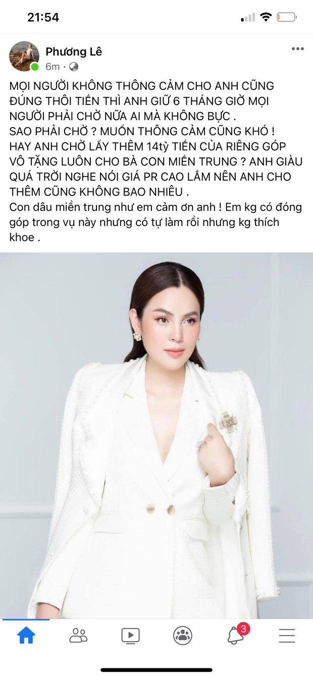 Sau khi bị netizen phản ứng dữ dội, Hoa hậu ở nhà 200 tỷ tiếp tục mỉa mai NS Hoài Linh: Giàu quá trời, nghe nói giá PR cao lắm - Ảnh 2.