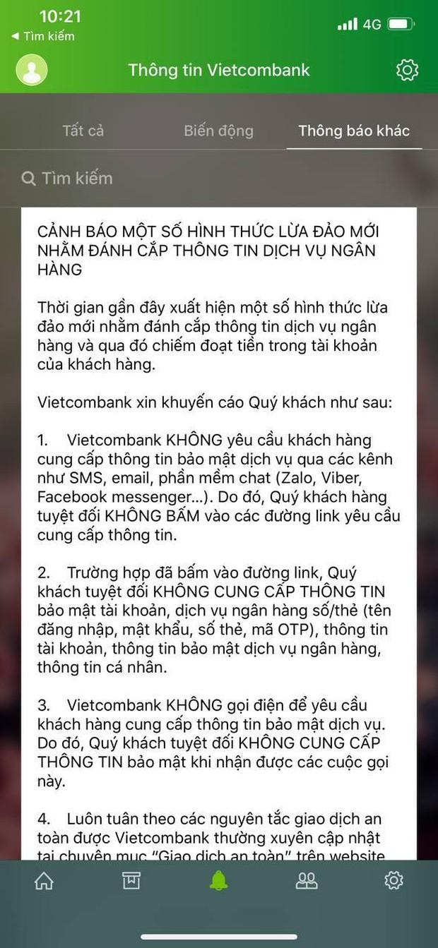 Người dùng nhận nhiều tin nhắn lừa đảo, giả mạo từ đầu số ngân hàng Vietcombank - Ảnh 7.