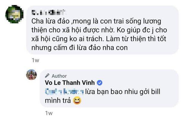 """Bố bị antifan tố lừa đảo, con trai Hoài Linh đáp trả cực căng: """"Lừa bạn bao nhiêu gửi bill tôi trả"""" - Ảnh 2."""