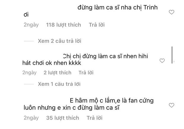 Ngọc Trinh khoe giọng hát trong phòng thu nhưng bị netizen cà khịa, phản ứng của chính chủ gây chú ý - Ảnh 5.