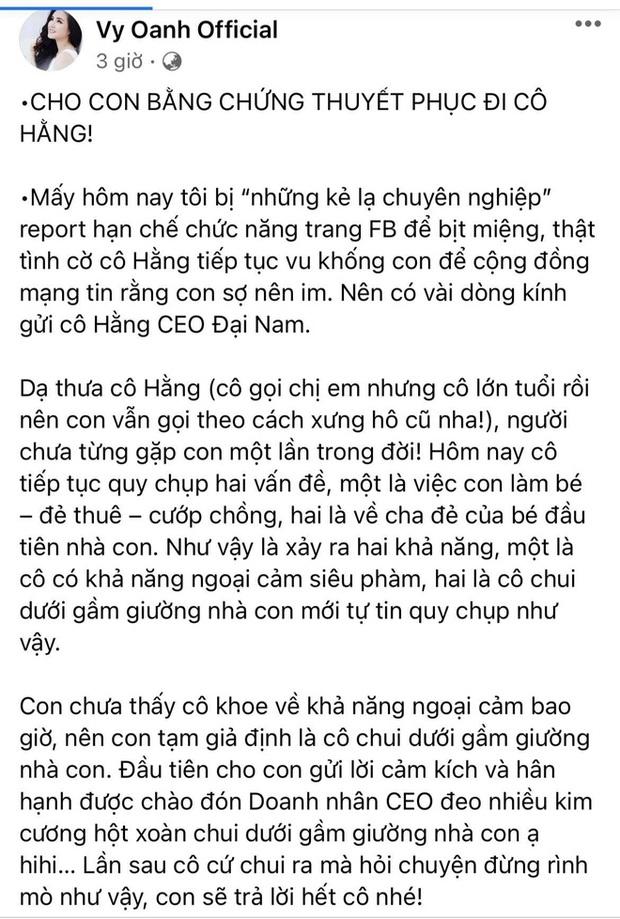 3 lần 7 lượt đáp trả bà Phương Hằng, Vy Oanh tiết lộ tinh thần sa sút khi liên tục bị tố trong lúc mang thai gần sinh - Ảnh 3.