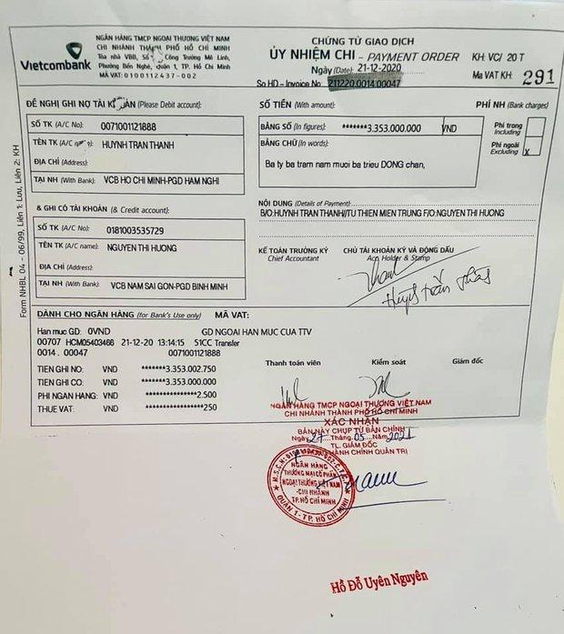 Trấn Thành chính thức tung loạt giấy tờ sao kê chuyển 6,45 tỷ từ thiện cho mẹ Hà Hồ, làm rõ chuyện chậm giải ngân 2 tháng - Ảnh 4.