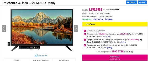 Netizen hò nhau mua tivi để hóng livestream của đại gia Phương Hằng: Từ 3 triệu dư sức tậu, nhiều loại xịn xò cũng chỉ dưới 5 triệu - Ảnh 3.