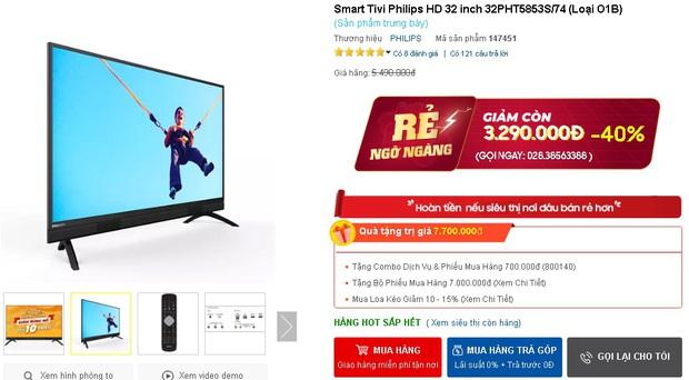 Netizen hò nhau mua tivi để hóng livestream của đại gia Phương Hằng: Từ 3 triệu dư sức tậu, nhiều loại xịn xò cũng chỉ dưới 5 triệu - Ảnh 5.