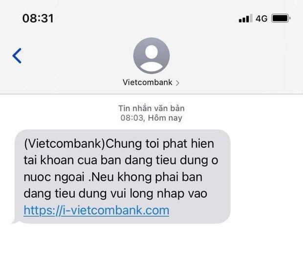 Người dùng nhận nhiều tin nhắn lừa đảo, giả mạo từ đầu số ngân hàng Vietcombank - Ảnh 3.